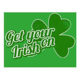 Get your irish on postcard