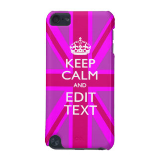 Get Your Keep Calm Text on Fuchsia Union Jack iPod Touch 5G Case