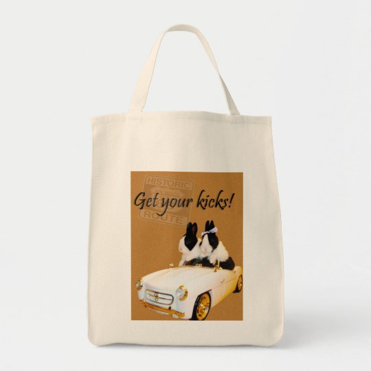 Get your kicks grocery tote