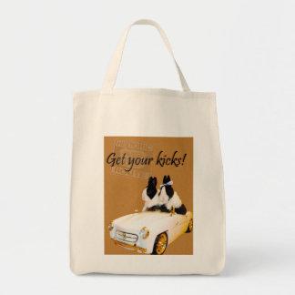 Get your kicks grocery tote tote bag