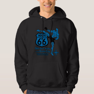 Get your kicks in the Duke City blue Hooded Pullover