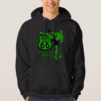 Get your kicks in the Duke City Green Hoodie