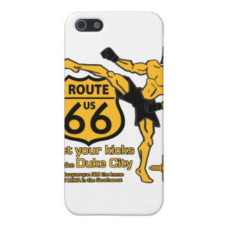 Get your kicks in the Duke City yellow iPhone SE/5/5s Cover