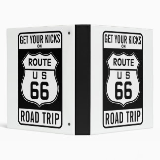Get Your Kicks On Route 66 3 Ring Binder