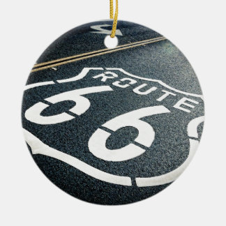 Get Your Kicks On Route 66 Ceramic Ornament