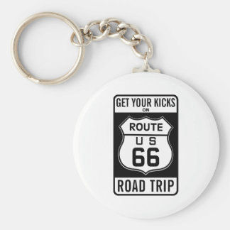 Get Your Kicks On Route 66 Keychain