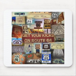 Get your Kicks on Route 66 Mousepads