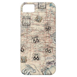 Get Your Kicks on Route 66 Road Map iPhone Cover