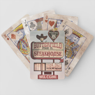 Get your kicks on Route 66 Signage Bicycle Playing Cards