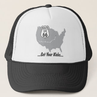 Get Your Kicks on Route 66 T-shirts and Gifts. Trucker Hat