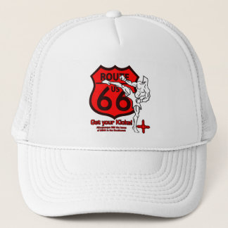 Get your Kicks on Route 66! white n red Trucker Hat
