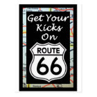 Get Your Kicks On Route 66 With Map Postcard
