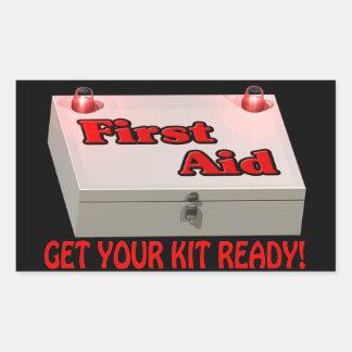 Get Your Kit Ready Rectangular Sticker