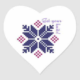 Get Your Knits Heart Sticker