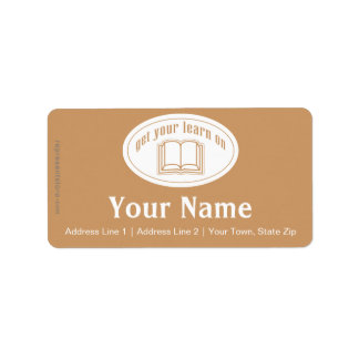 Get Your Learn On Address Label