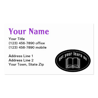Get Your Learn On Business Card Templates