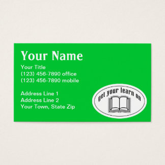 Get Your Learn On Business Card