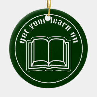 Get Your Learn On Double-Sided Ceramic Round Christmas Ornament