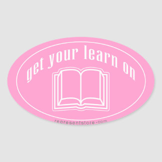 Get Your Learn On Oval Sticker