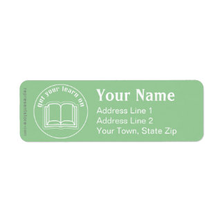 Get Your Learn On Return Address Label