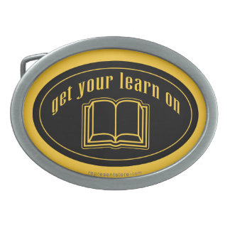 Get Your Learn On School Book Belt Buckles