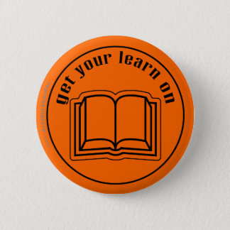Get Your Learn On School Book Button