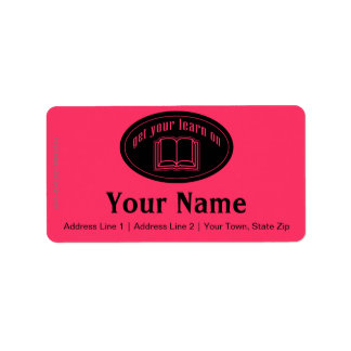 Get Your Learn On School Book Label