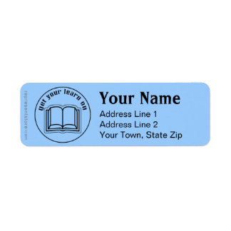 Get Your Learn On School Book Return Address Label