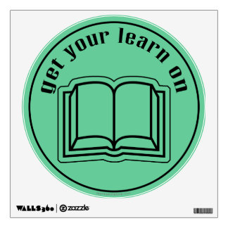 Get Your Learn On School Book Wall Decal