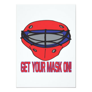 "Get Your Mask On 5"" X 7"" Invitation Card"