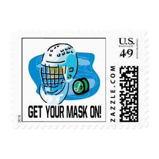 Get Your Mask On Postage Stamp