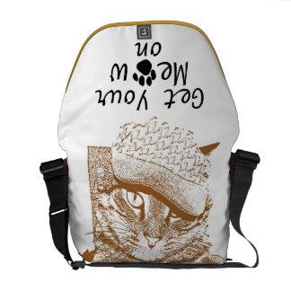 Get Your Meow On Messenger Bag