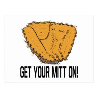 Get Your Mitt On Postcard