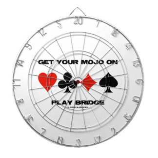 Get Your Mojo On Play Bridge (Four Card Suits) Dart Board