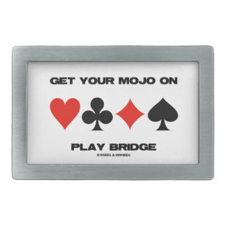Get Your Mojo On Play Bridge (Four Card Suits) Rectangular Belt Buckle