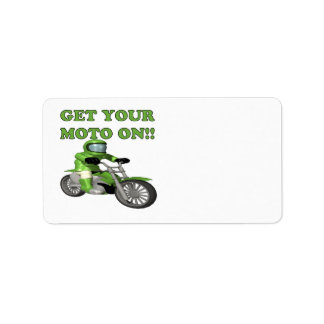 Get Your Moto On Label