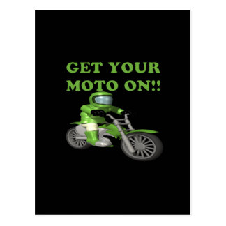Get Your Moto On Postcard