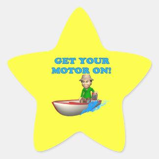 Get Your Motor On Star Sticker