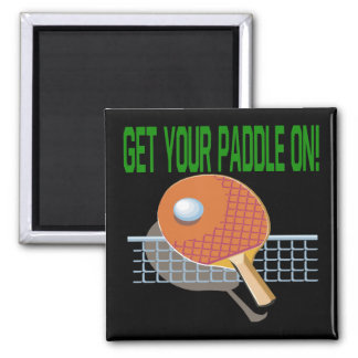Get Your Paddle On 2 Inch Square Magnet