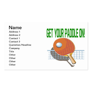 Get Your Paddle On Business Card