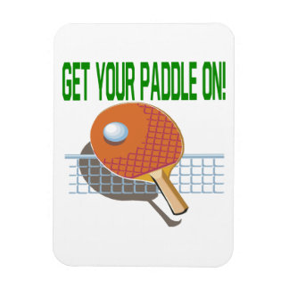 Get Your Paddle On Vinyl Magnet