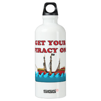 Get Your Piracy On Aluminum Water Bottle