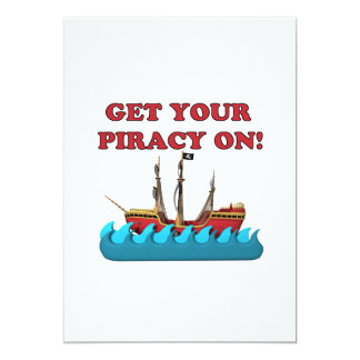 Get Your Piracy On 5x7 Paper Invitation Card