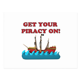 Get Your Piracy On Postcard