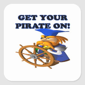 Get Your Pirate On Square Sticker