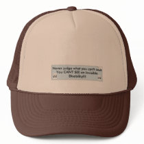 Get Your Point Across Silently Trucker Hat
