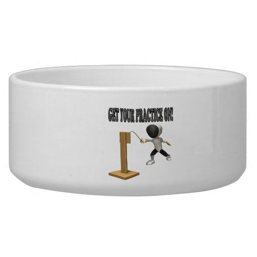 Get Your Practice On 2 Dog Food Bowls