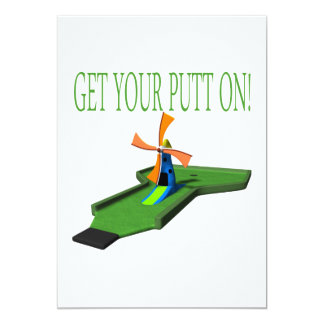 Get Your Putt On Personalized Announcements