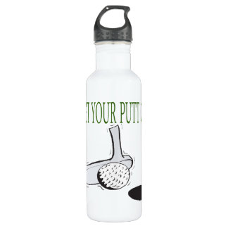 Get Your Putt On Stainless Steel Water Bottle