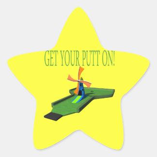 Get Your Putt On Star Sticker